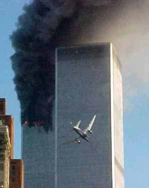 A second jet targets and hits the World Trade Center.